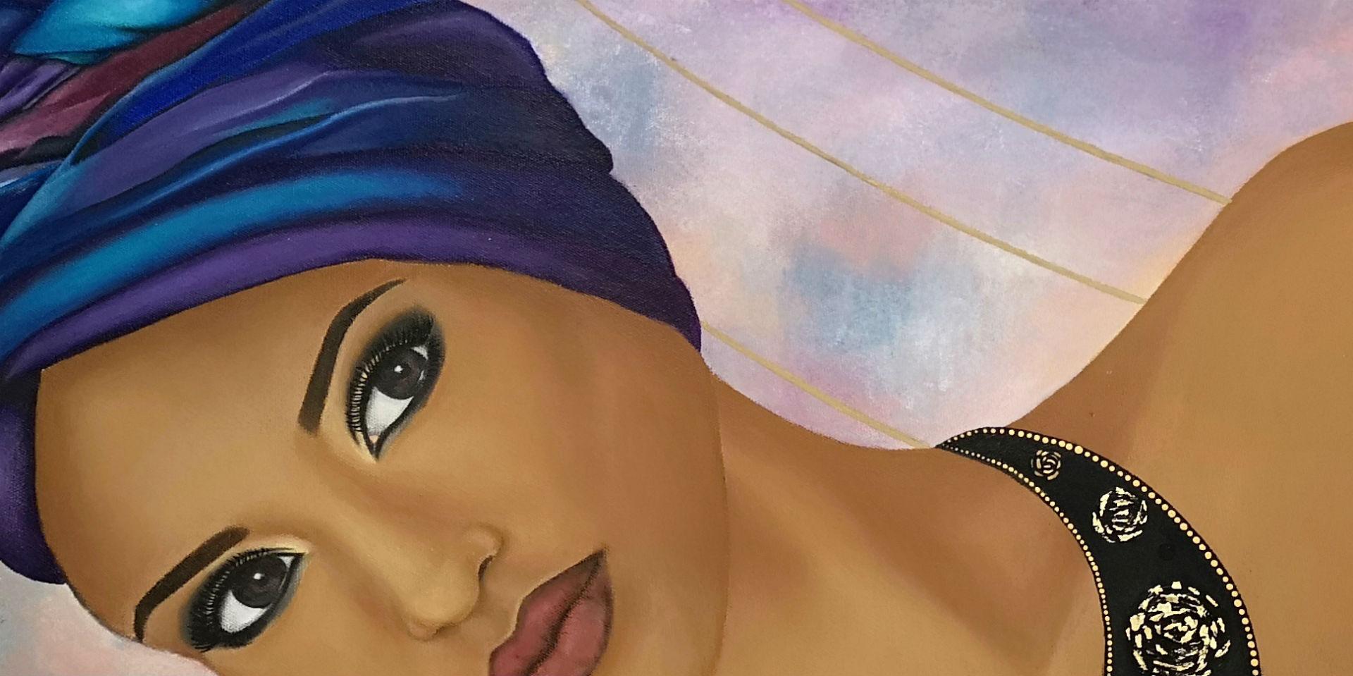Targonska African Lady close up