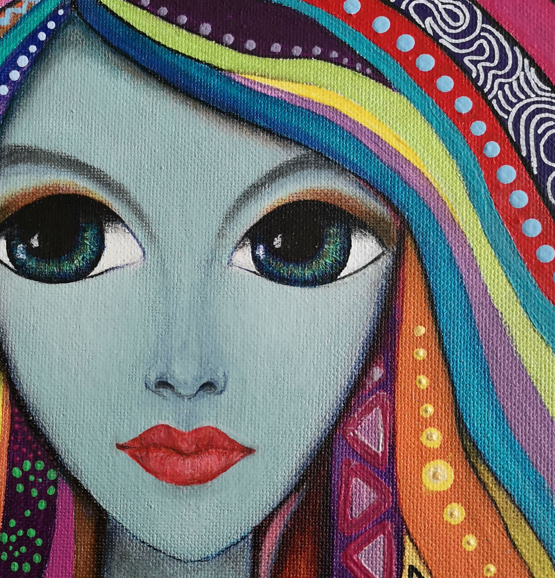 Malgorzata Targonska - Colorful Lady painting