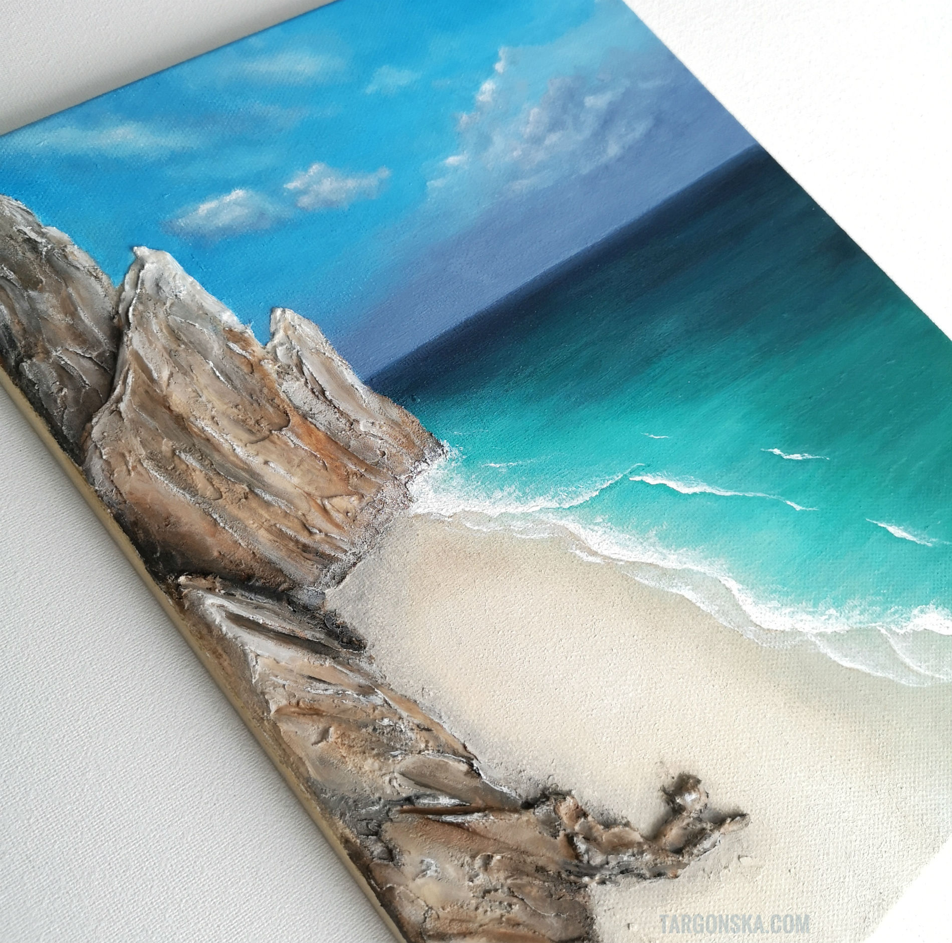 Beach beauty malgorzata targonka painting