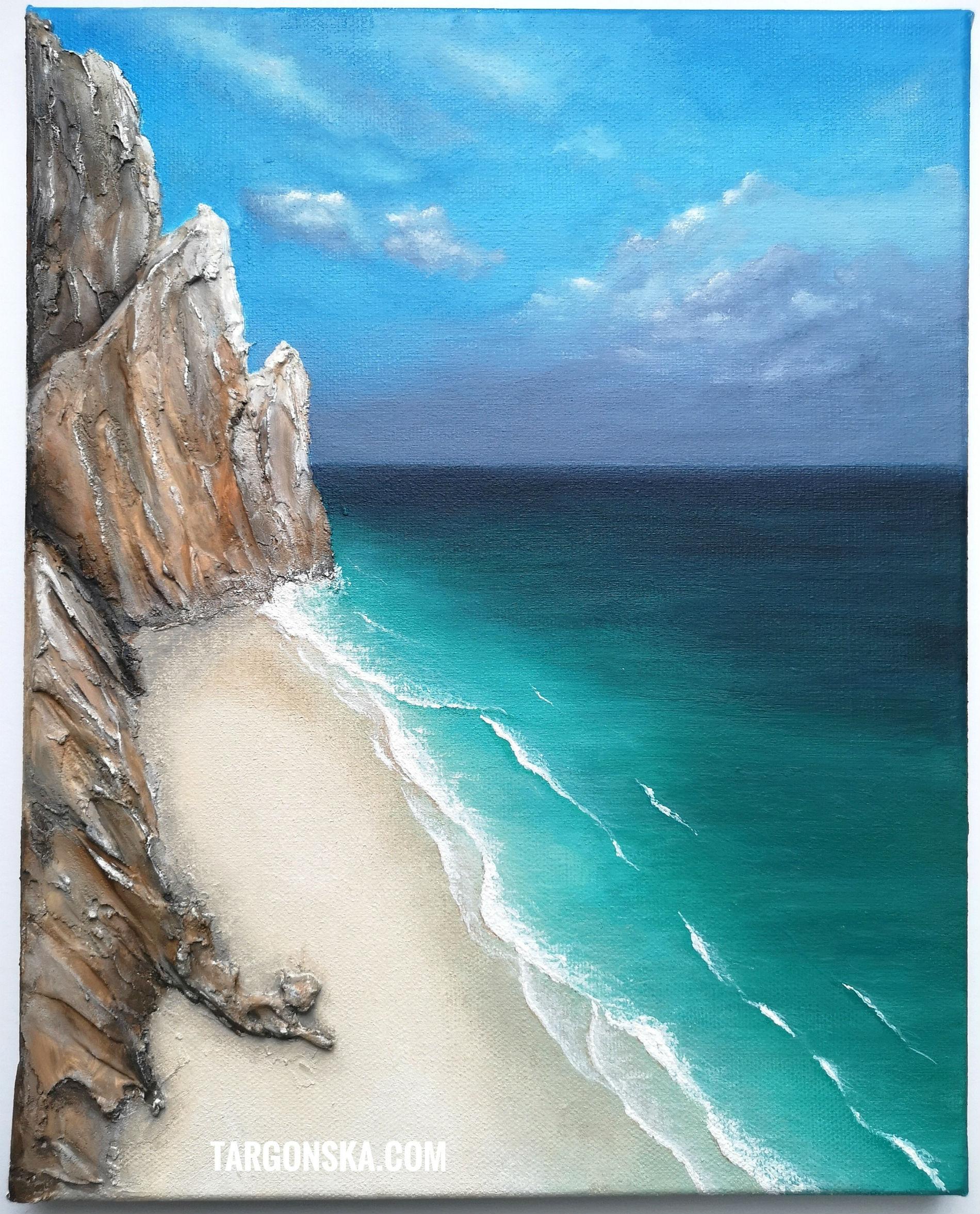 Beach beauty malgorzata targonka paintings