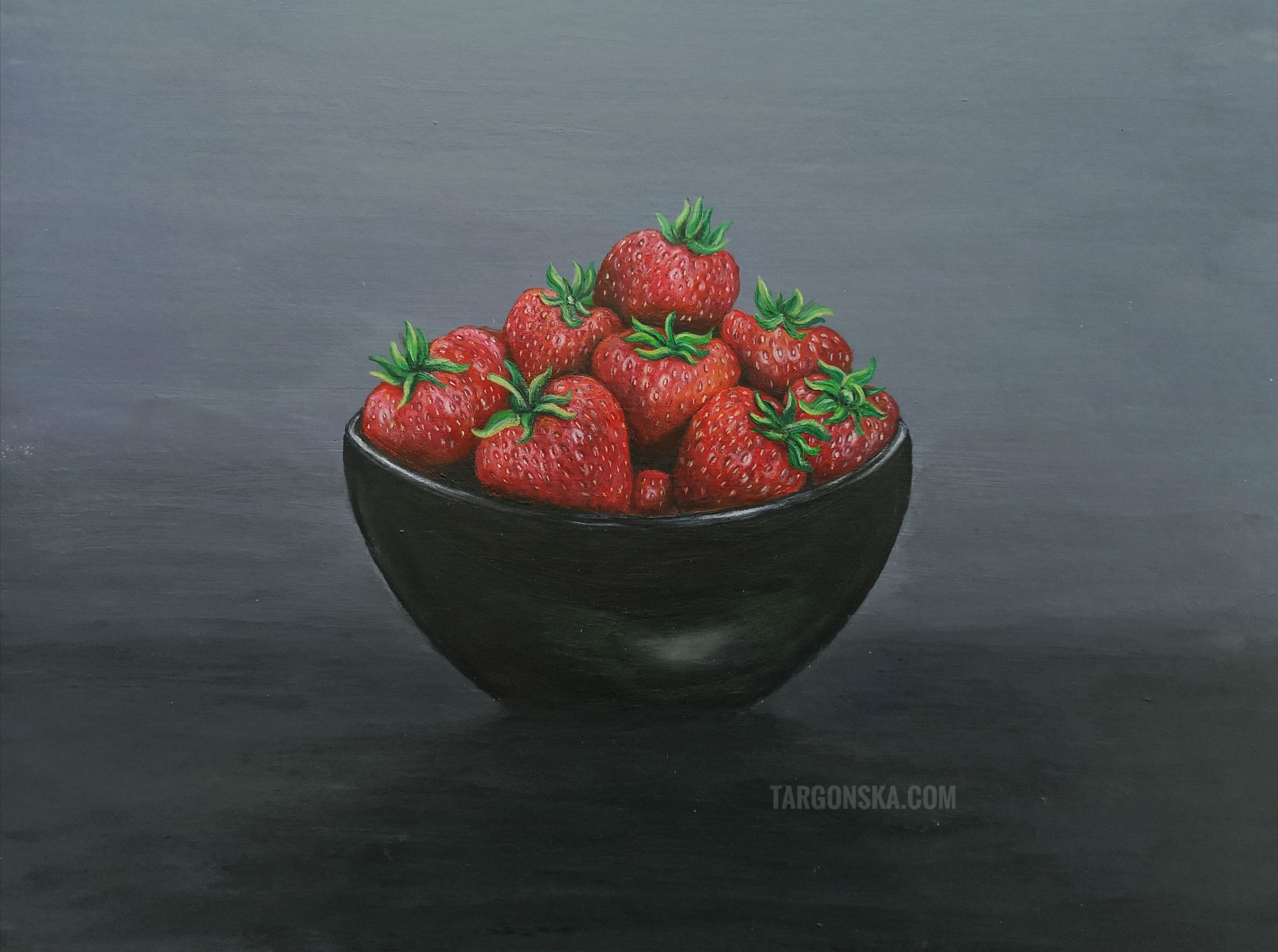 Bowl of strawberries malgorzata targonska