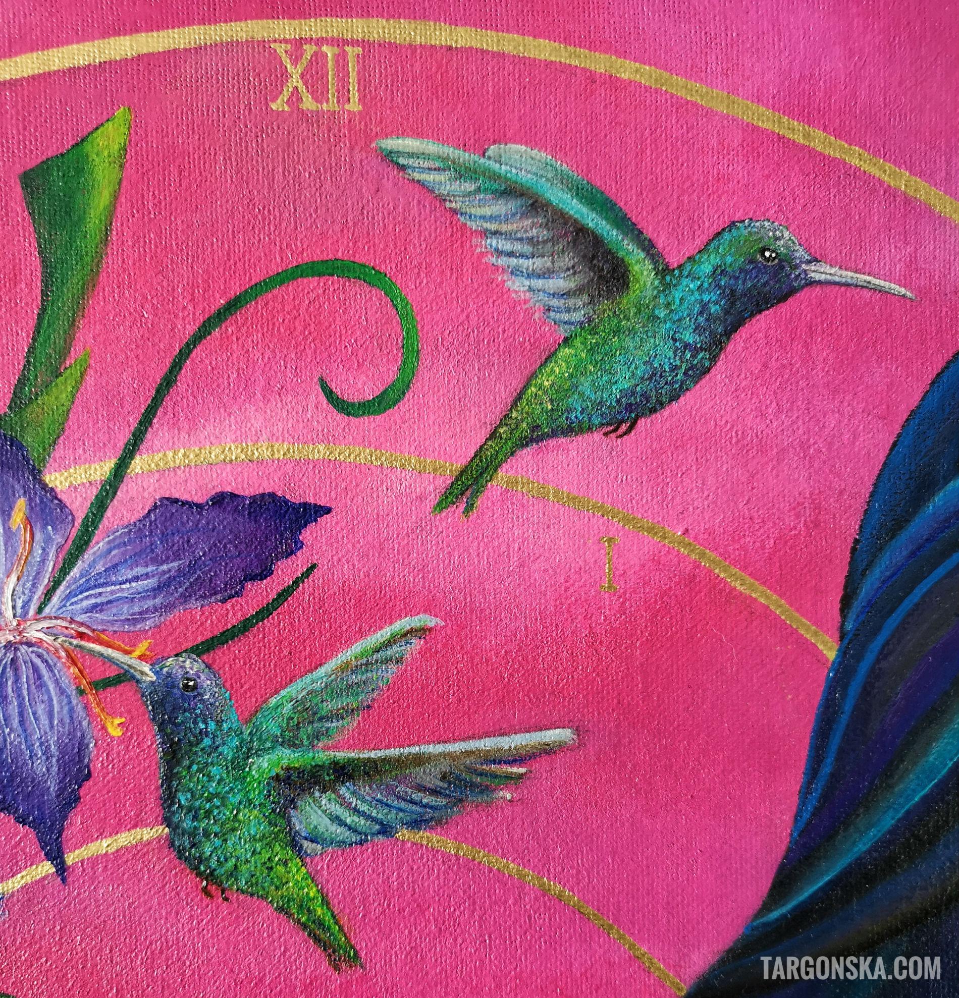 Wake up painting malgorzata targonska details