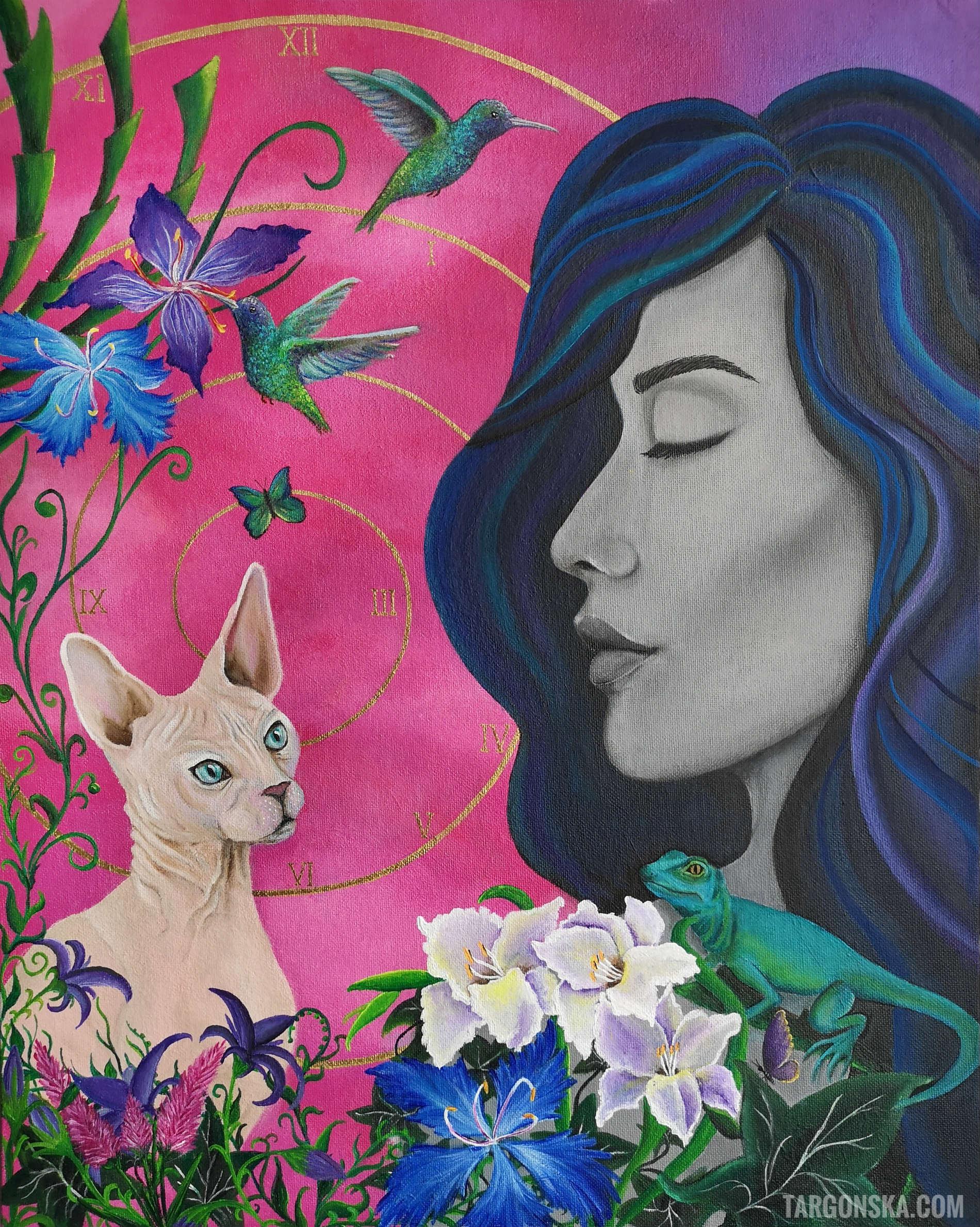Wake up painting malgorzata targonska