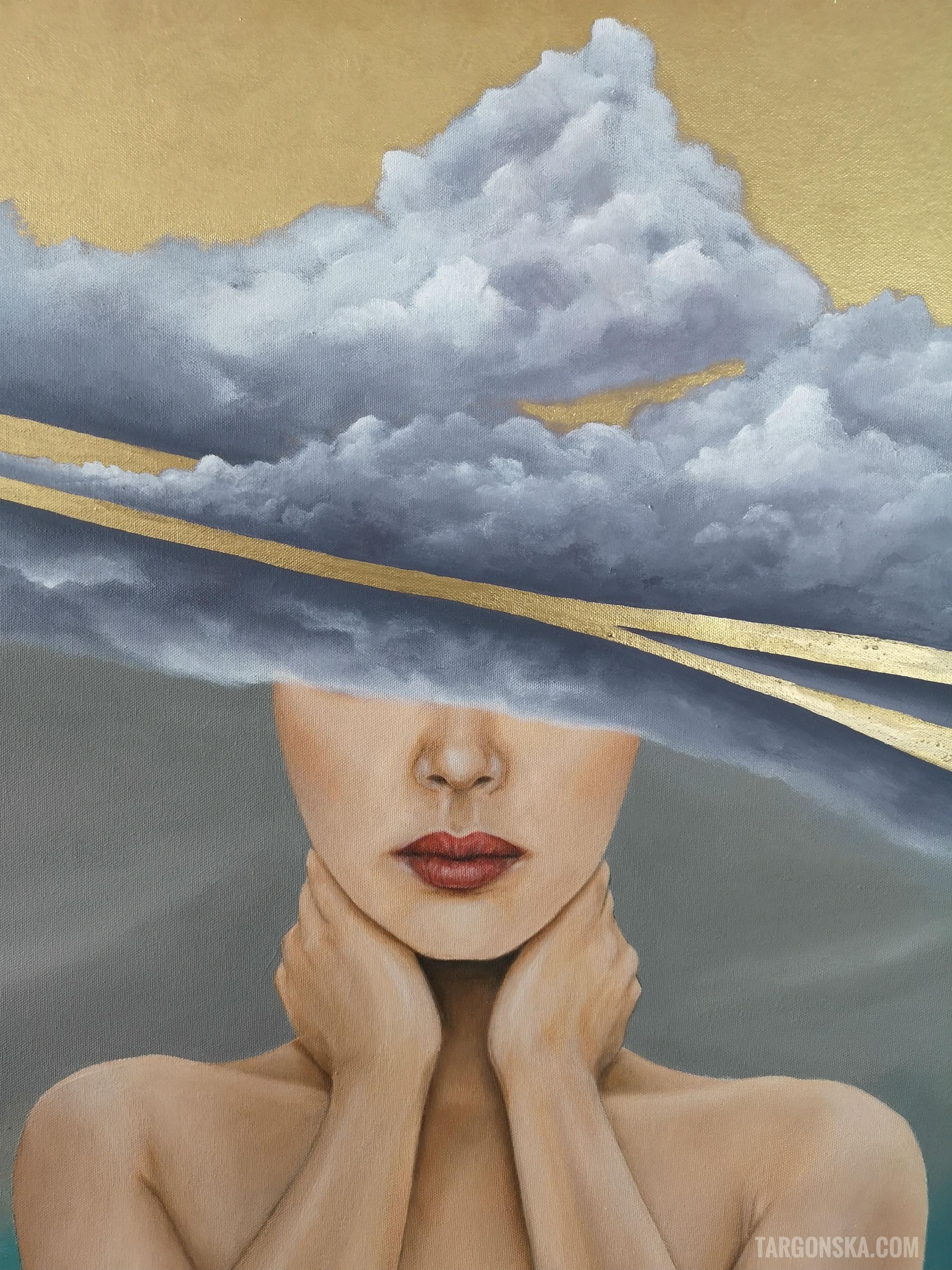 face Her clouds malgorzata targonska paintings