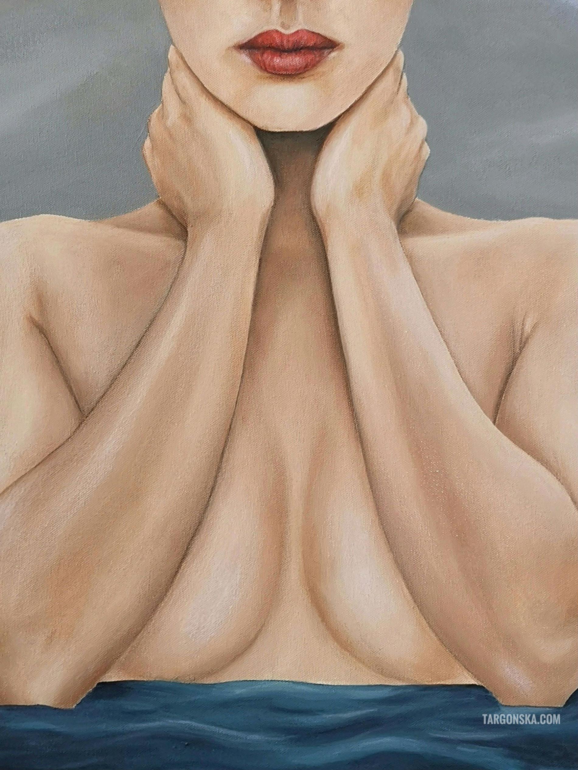 mouth face Her clouds malgorzata targonska paintings